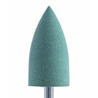 Полир силикон-карбидный Конус, 10 мм, тонкий, 410, зеленый