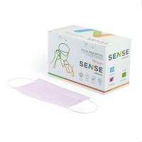 Sense, Маска защитная, розовая, 50 шт