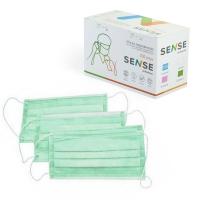 Sense, Маска защитная, зелёная, 50 шт.