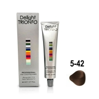 Constant Delight, Крем-краска DELIGHT TRIONFO для окрашивания волос 5-42 светло-коричневый бежево-пепельный 60 мл
