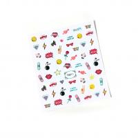 Кристалл Nails, Наклейка 5D слайдер для дизайна ногтей TH 011