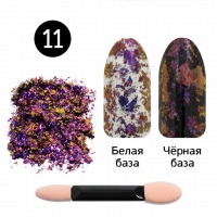 Кристалл Nails, Втирка для ногтей + аппликатор, Юки, №11 вишнёвый