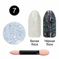 Кристалл Nails, Втирка для ногтей + аппликатор, Юки прозрачная, №07 розовый жемчуг