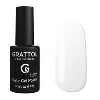 Гель-лак Grattol GTC001 White (9 мл.)