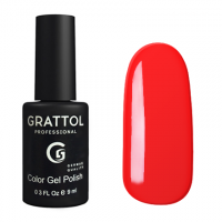 Гель-лак Grattol GTC030 Bright Red (9 мл.)