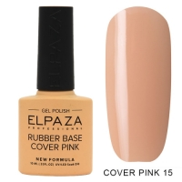ELPAZA Камуфлирующая каучуковая база Cover Pink №15