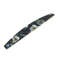 Кристалл Nails, Пилка лодка Жасмин, на деревянной основе 100/180 грит