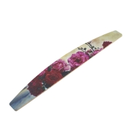 Кристалл Nails, Пилка лодка Красные Розы, на деревянной основе 100/180 грит