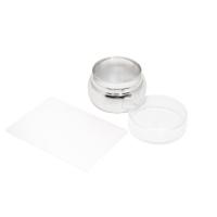 Кристалл Nails, Штамп для стемпинга плоский металлический прозрачный