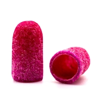 Silver Kiss, Колпачок абразивный на тканевой основе 5 мм, розовый 120 грит