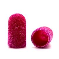 Silver Kiss, Колпачок абразивный на тканевой основе 7 мм, розовый 120 грит
