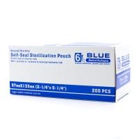 Пакеты для стерилизации, самозапечатывающиеся, бумага/пластик, 57мм х 133мм, 200 шт, автоклав